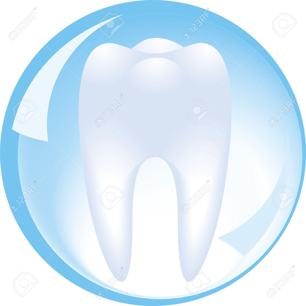 tooth is protected by a glass sphere, dentistry Stock Vector - 8737423