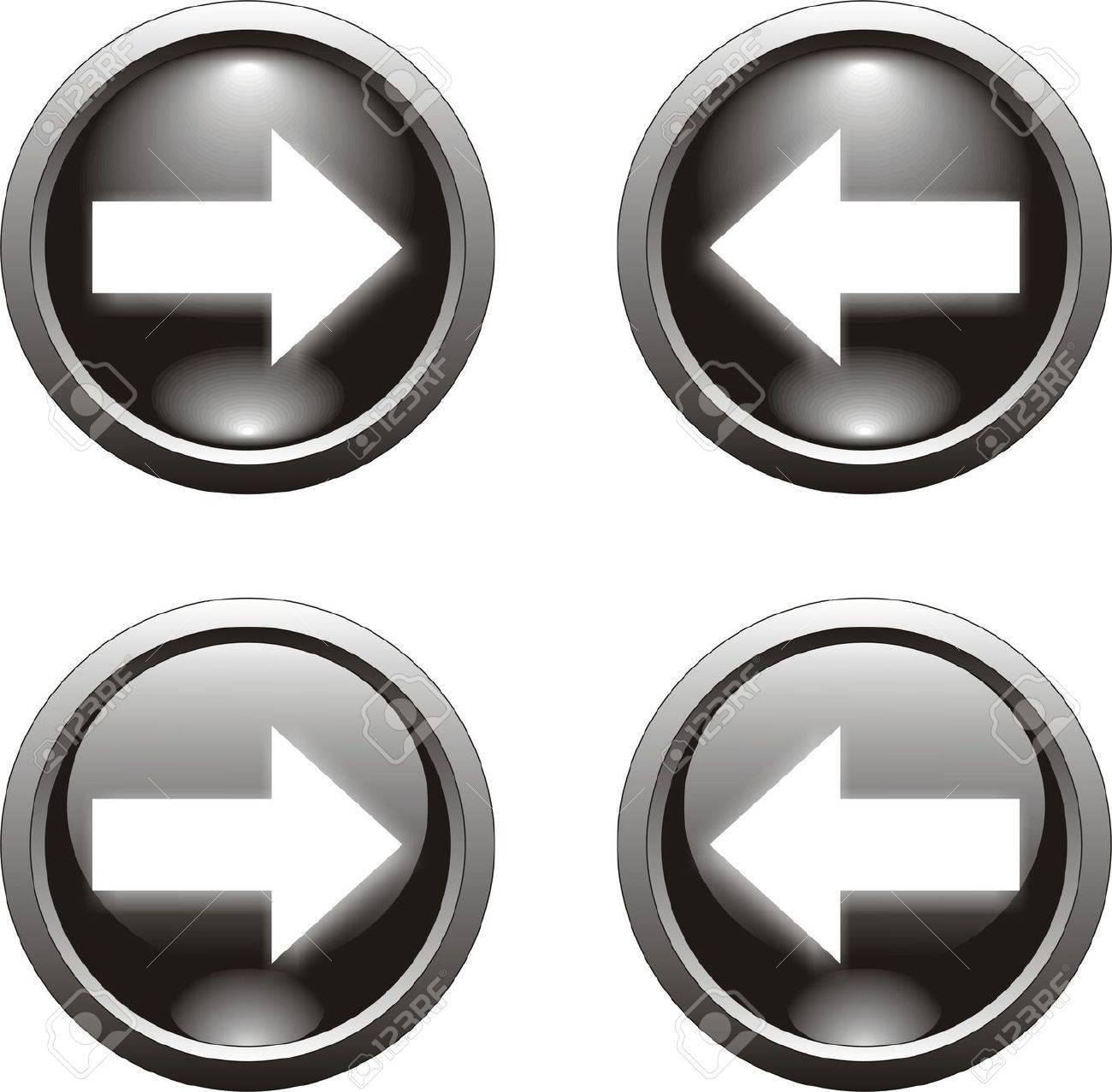 black arrow button - 8737436