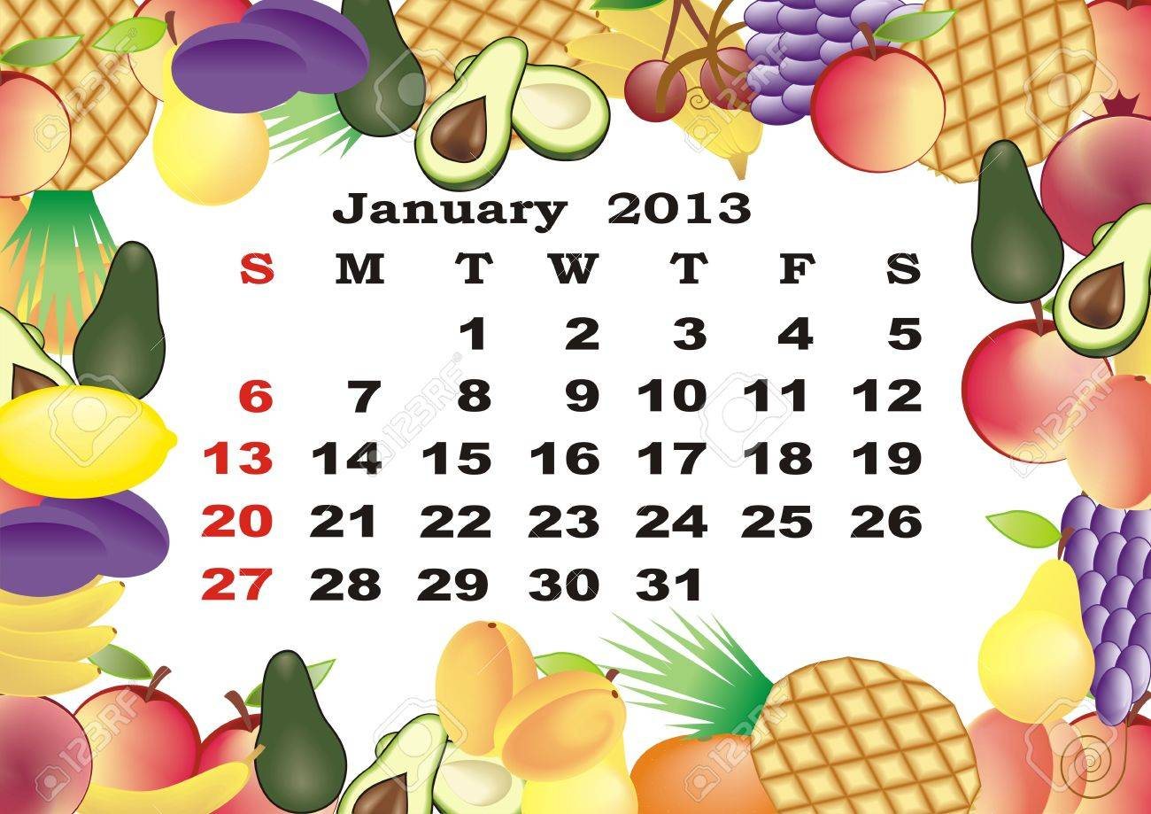 Calendar 2013 in Frame