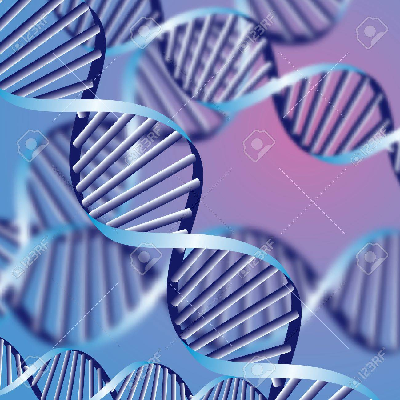 DNA helix, biochemical abstract background with defocused strands, eps10 Stock Vector - 15200463