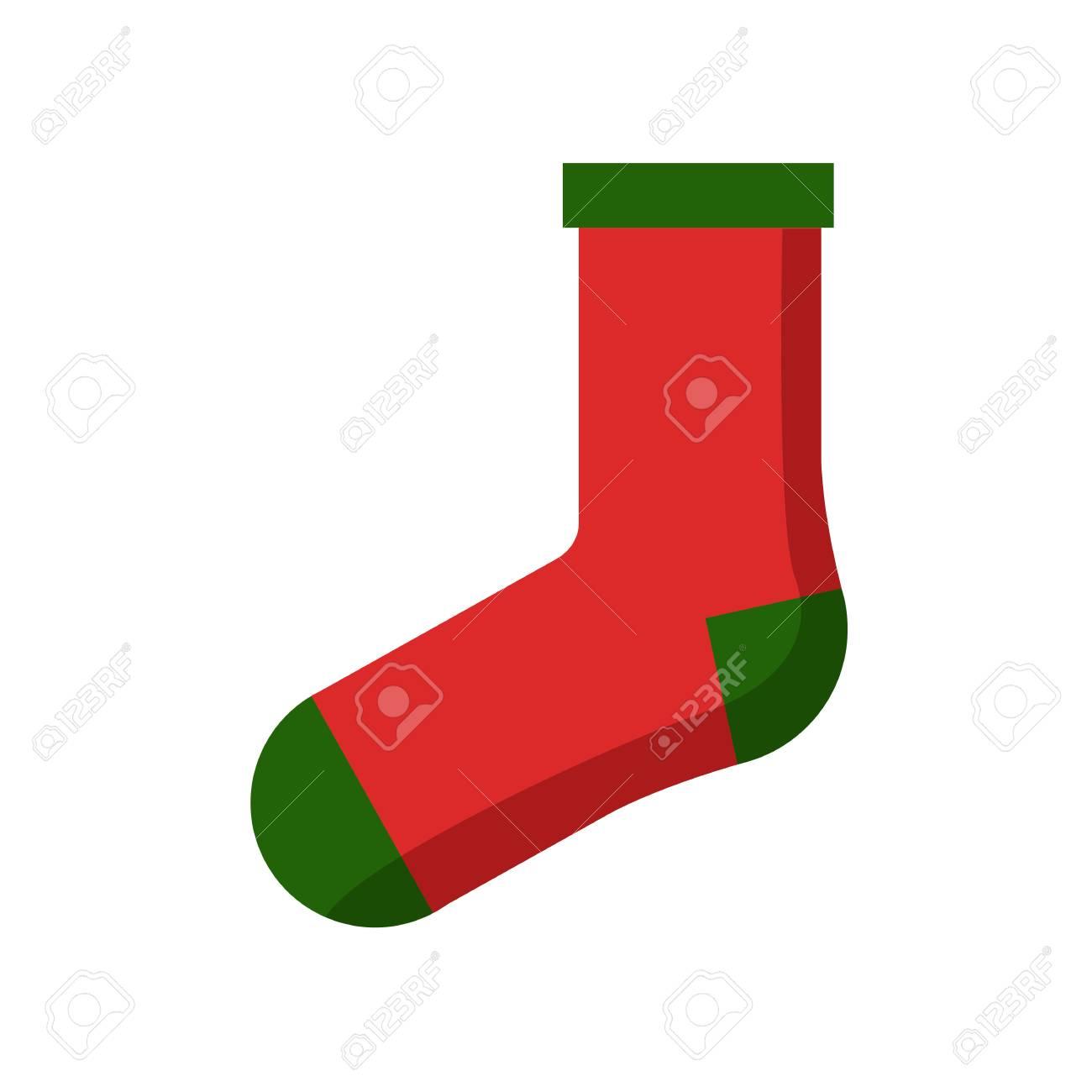 Rote Grüne Weihnachtssocke Lizenzfrei Nutzbare Vektorgrafiken, Clip ...