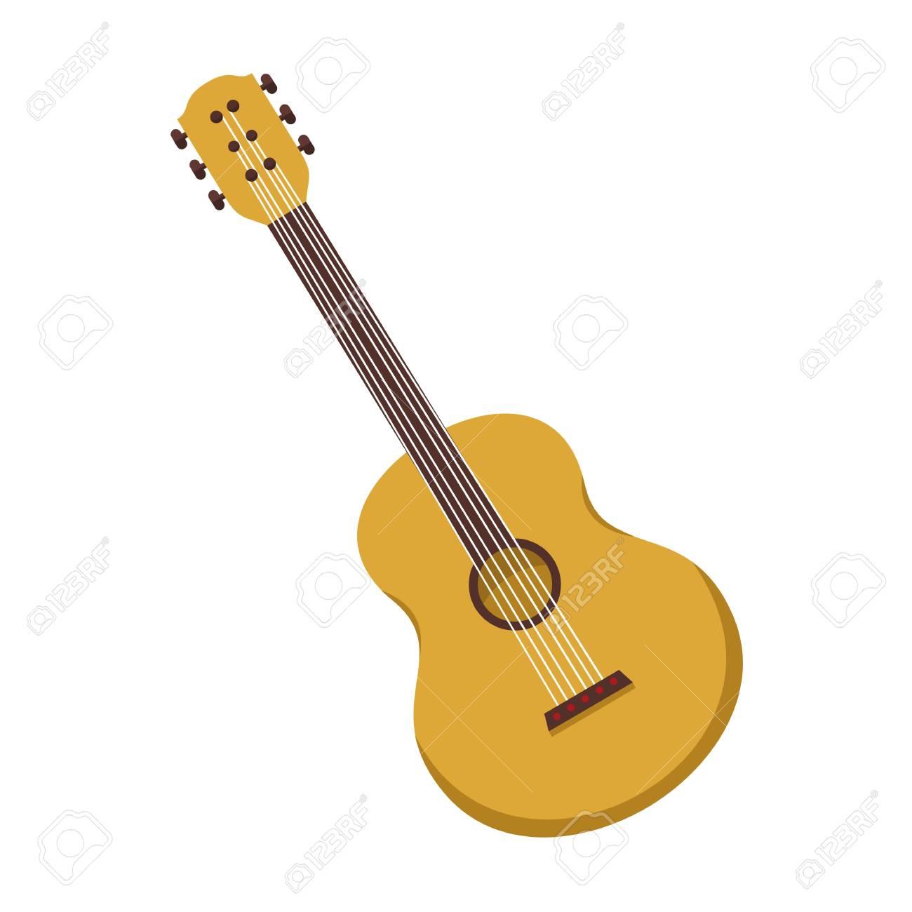 simple acoustic guitar vector illustration graphic design royalty rh 123rf com acoustic guitar silhouette vector free acoustic guitar vector icon