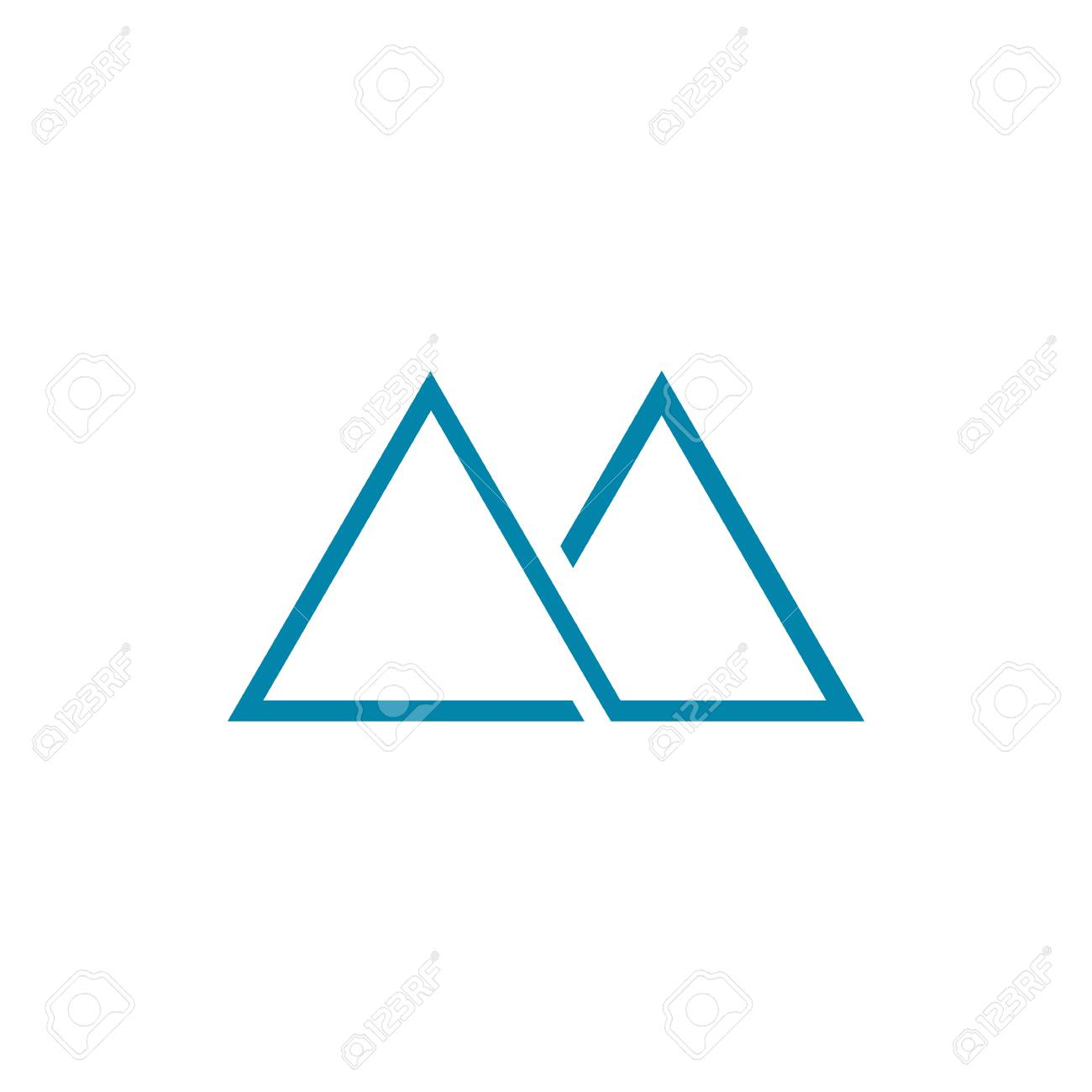thin line abstract mountain symbol vector illustration graphic