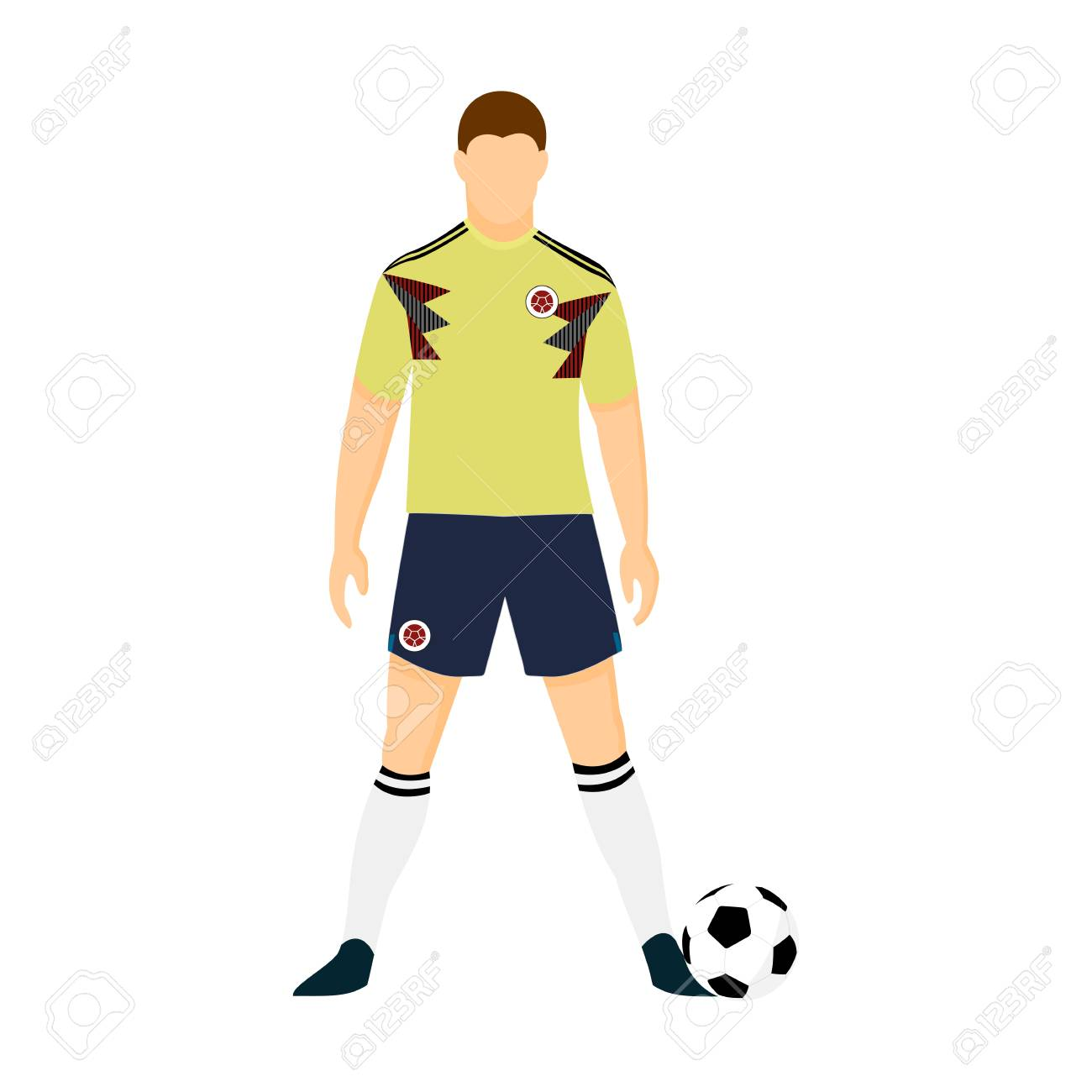 Columbia football jersey national team vector illustration graphic design.  Stock Vector - 97620145 aa670db30