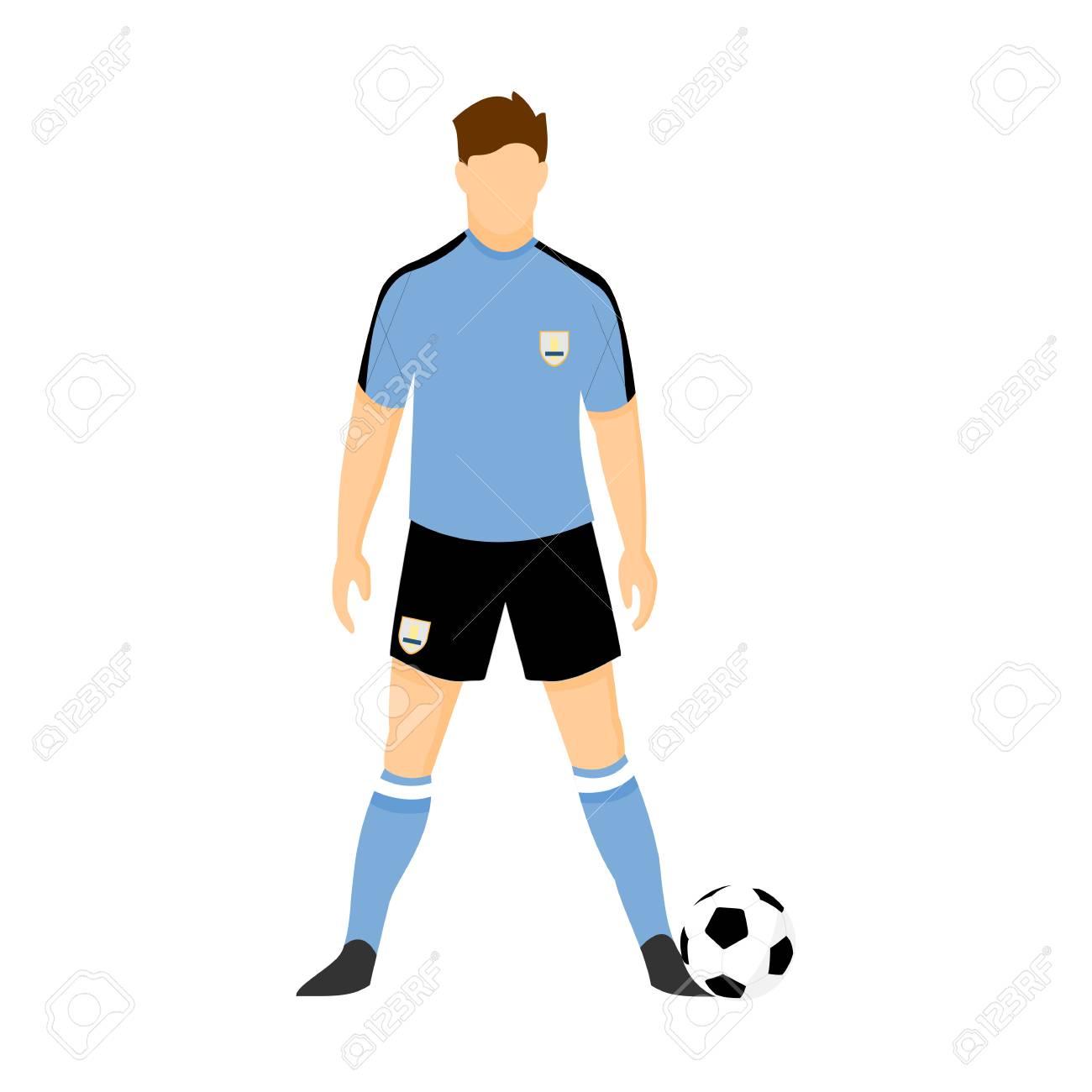 88c7101db54 Uruguay Football Uniform National Team Illustration Graphic Design Stock  Vector - 99273633
