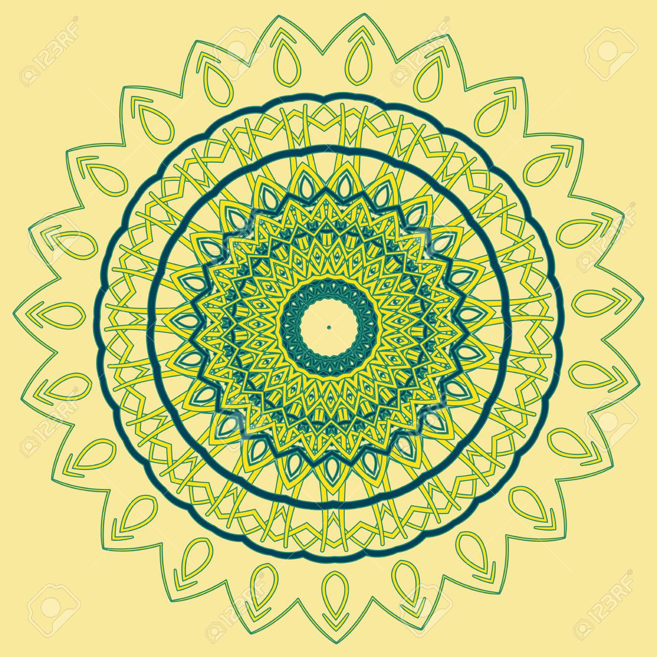 arabic color mandala royalty free cliparts vectors and stock