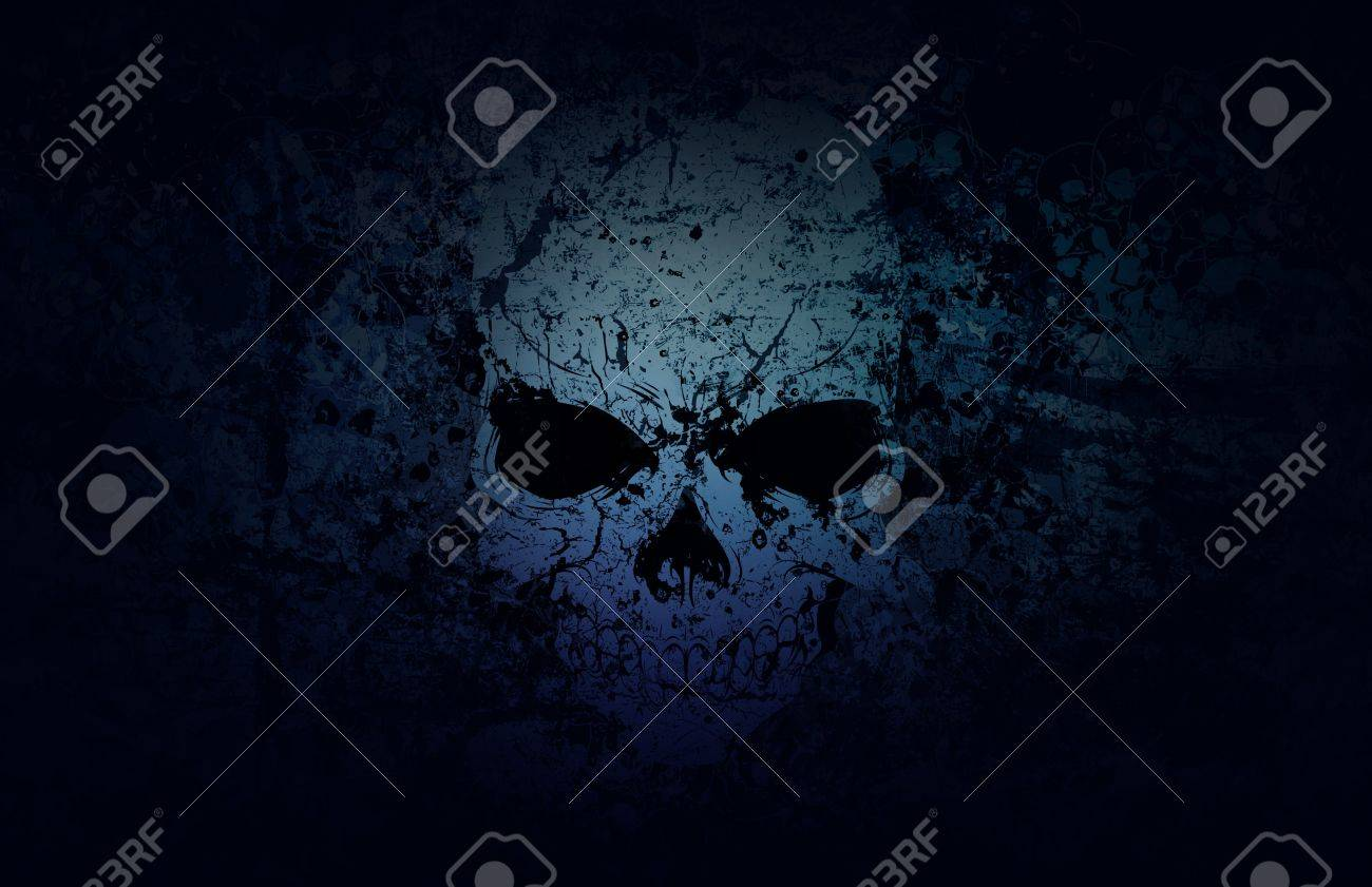 A weathered skull stands out in a sea of decay. Stock Photo - 11944864