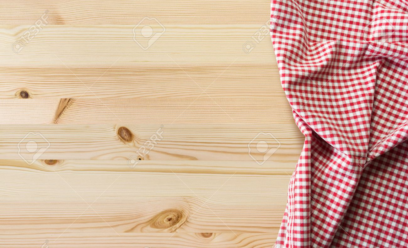 Kitchen Table Background New Tablecloth Over Wooden Table With Copy Space Stock Photo Picture Decorating Inspiration