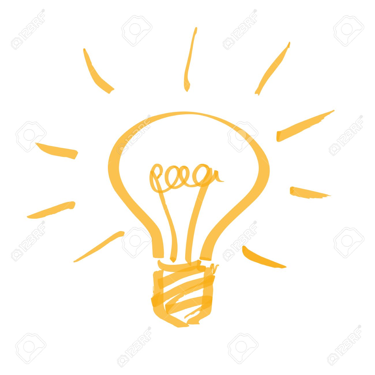 hand drawn light bulb - 28961425