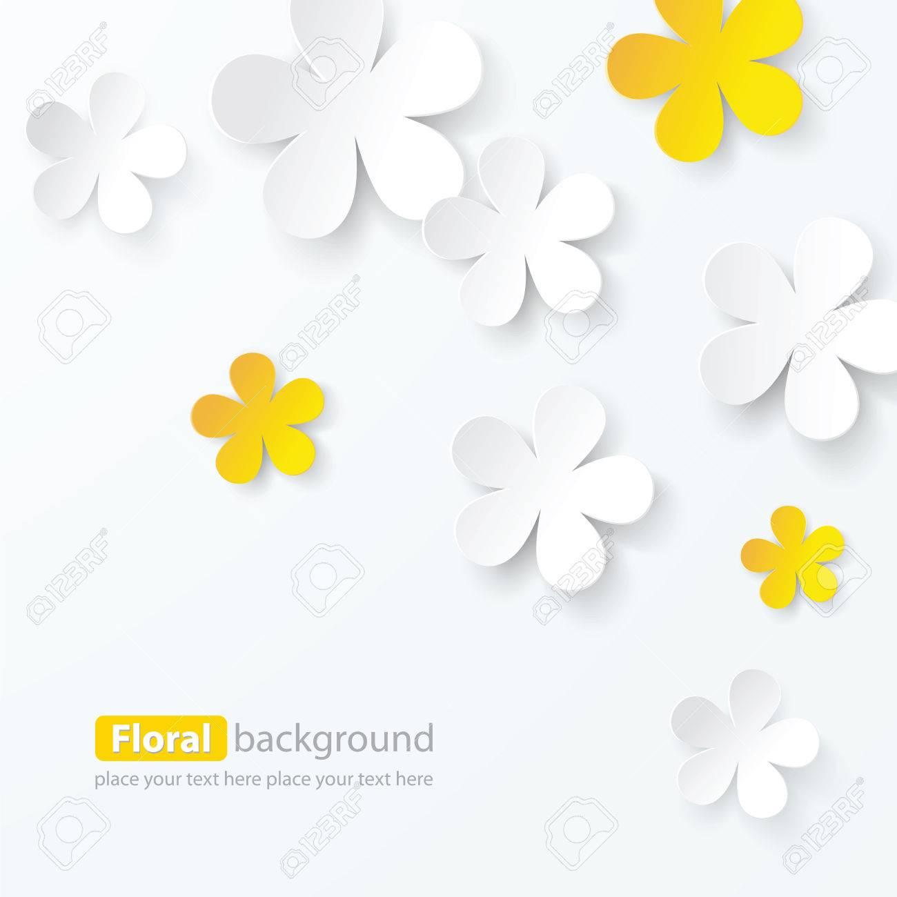 paper floral background, vector - 28961664