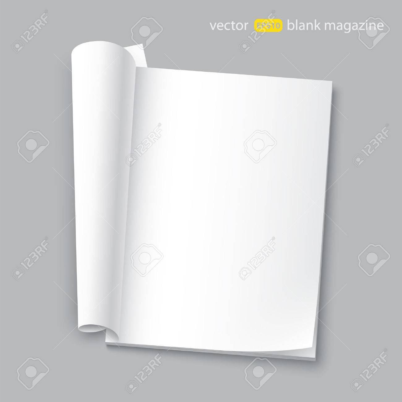 blank magazine with transparent shadows - 29413593
