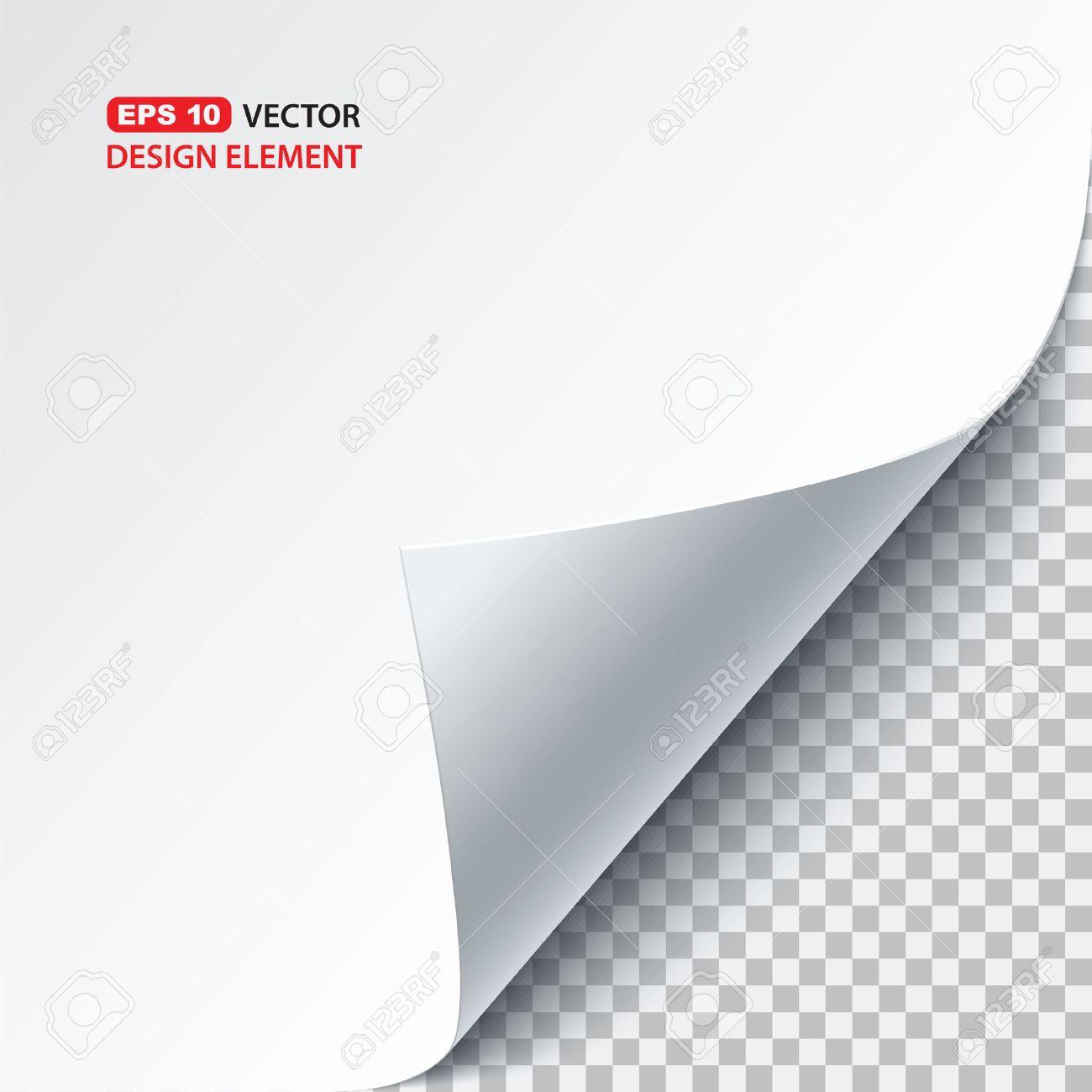 vector paper curl - 51059371