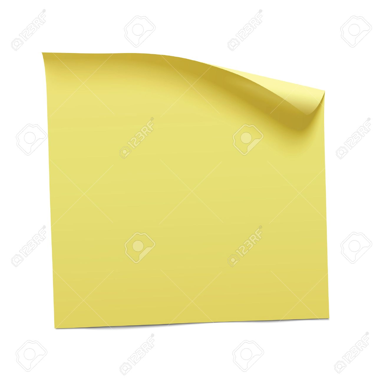 yellow sticky note, vector - 51582160