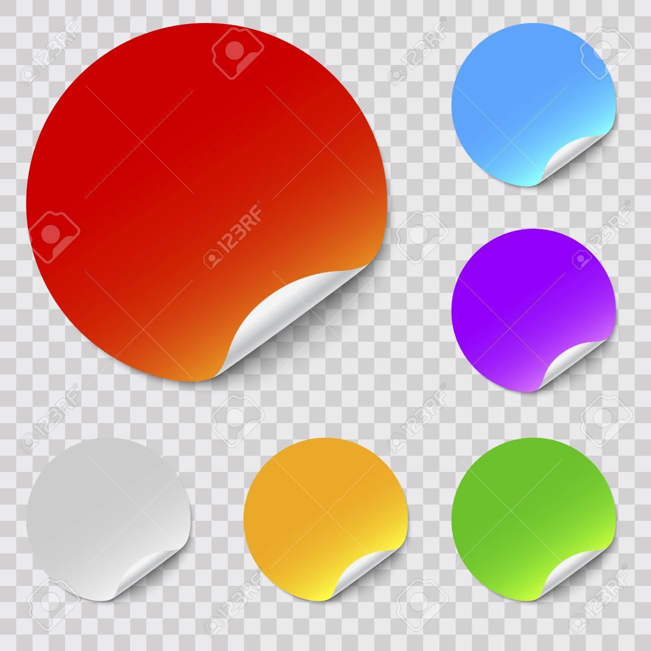 vector round stickers set - 72734434