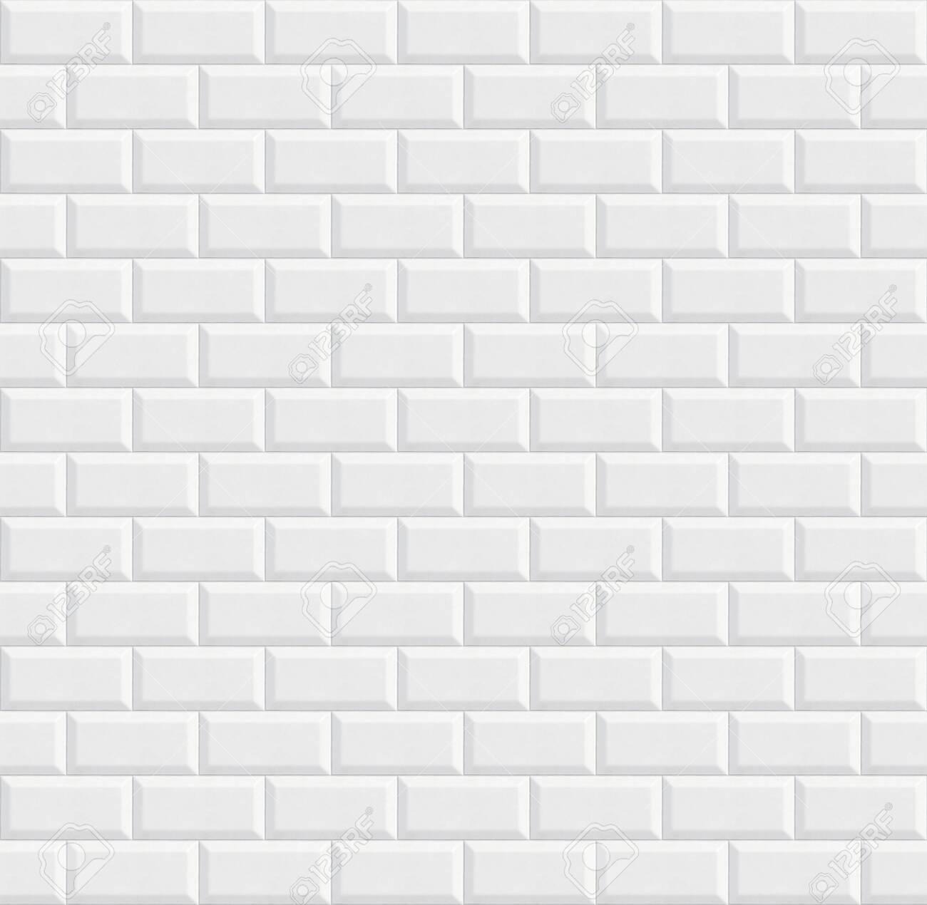 seamless ceramic tiles, white wall background texture - 131425596