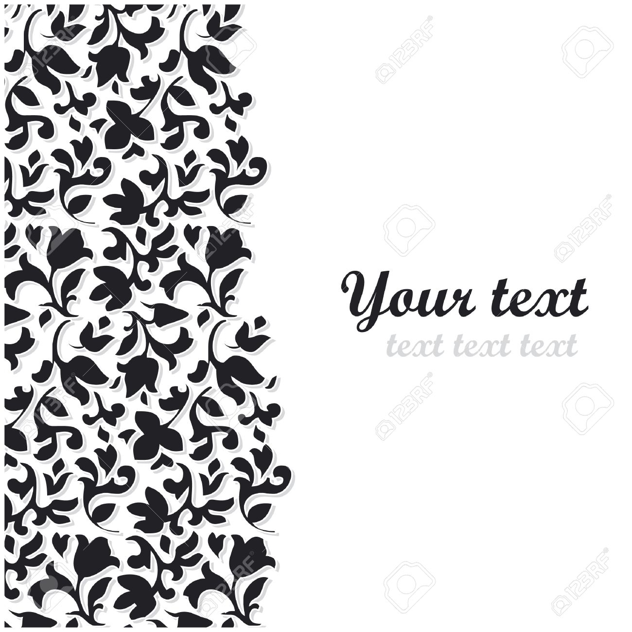 Vector Black Flower Background Royalty Free Cliparts Vectors And