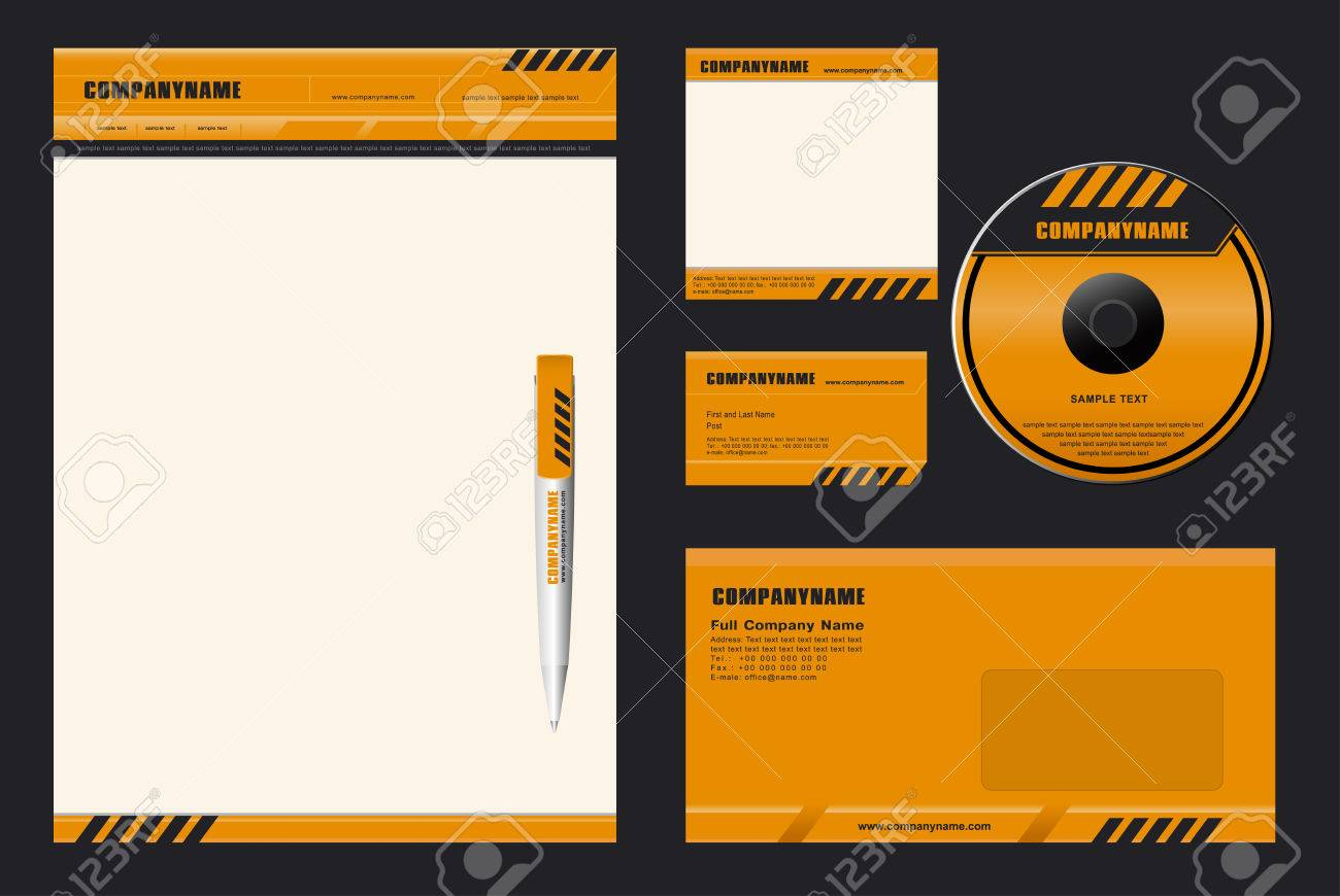 "Corporate Identity Template Vector  ""DANGER"" Stock Vector - 4676378"