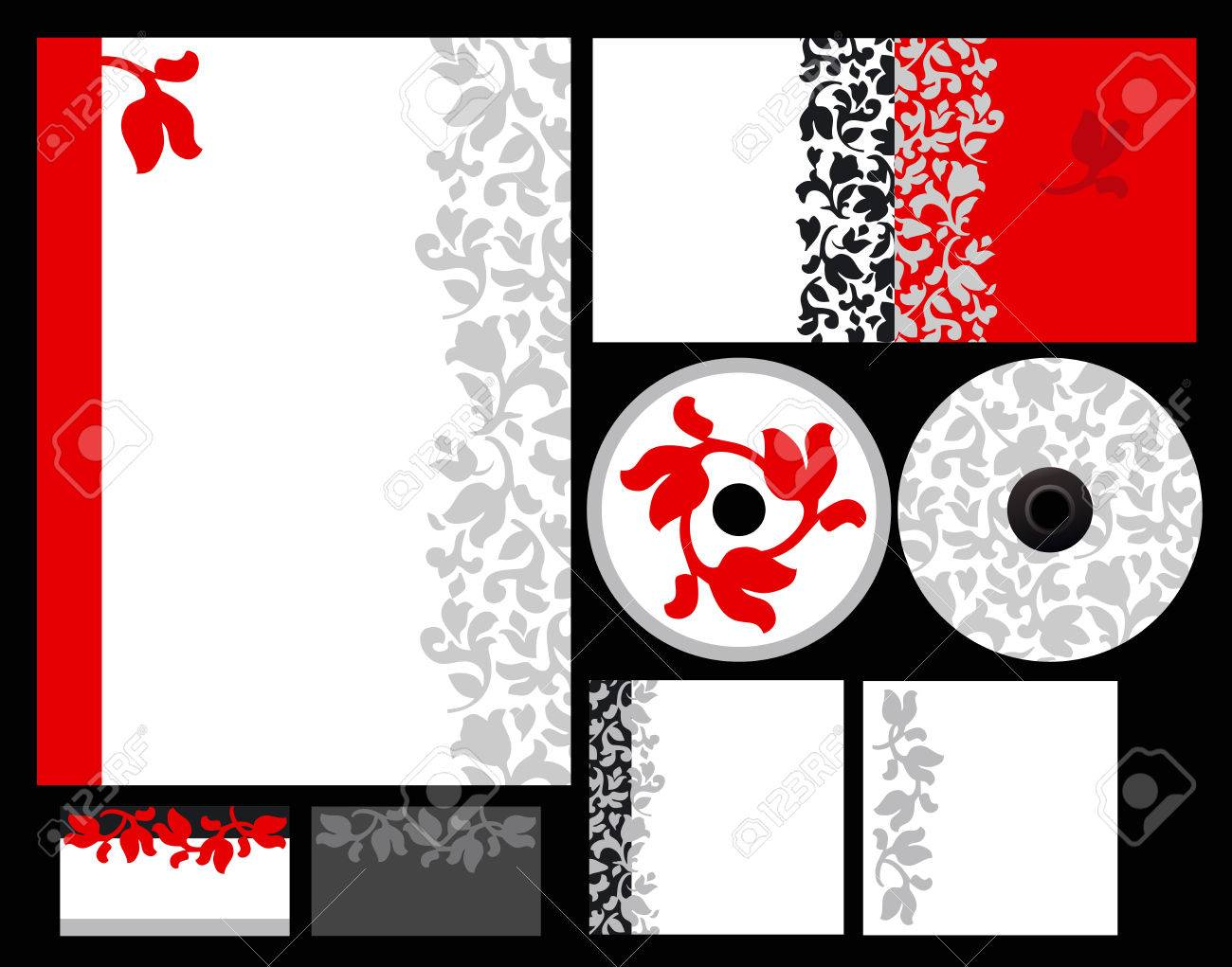 Elegant template background for hotel or restaurant (blank, card, cd, note-paper, cover, pen) Stock Vector - 8964958