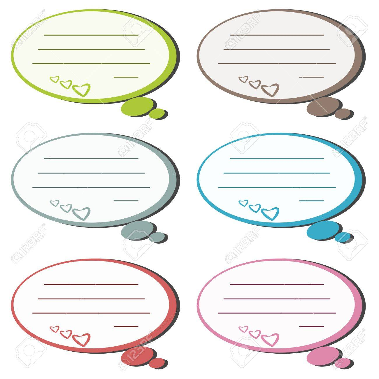 Colorful paper note or memo think concept  illustration Stock Vector - 17718855