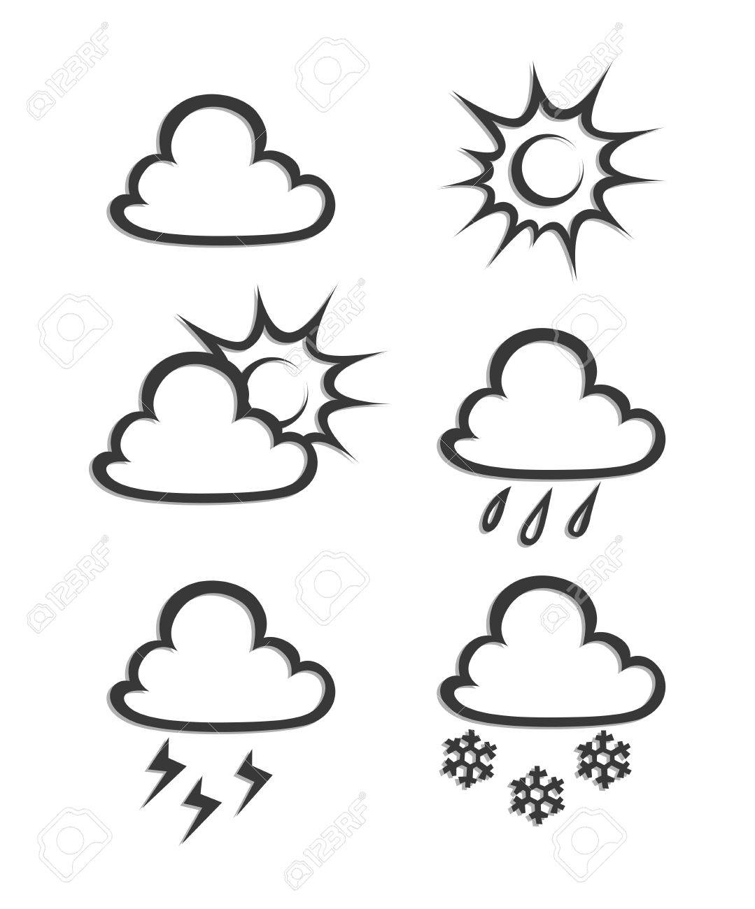 weather icon illustration isolated on white background Stock Vector - 14075311
