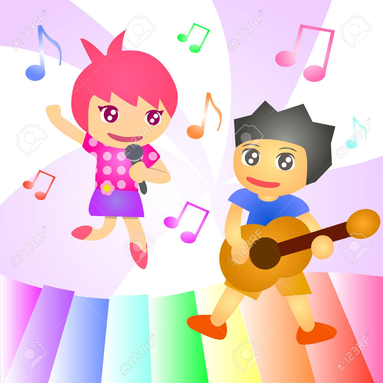 Kid Song Concert Royalty Free Cliparts, Vectors, And Stock ...