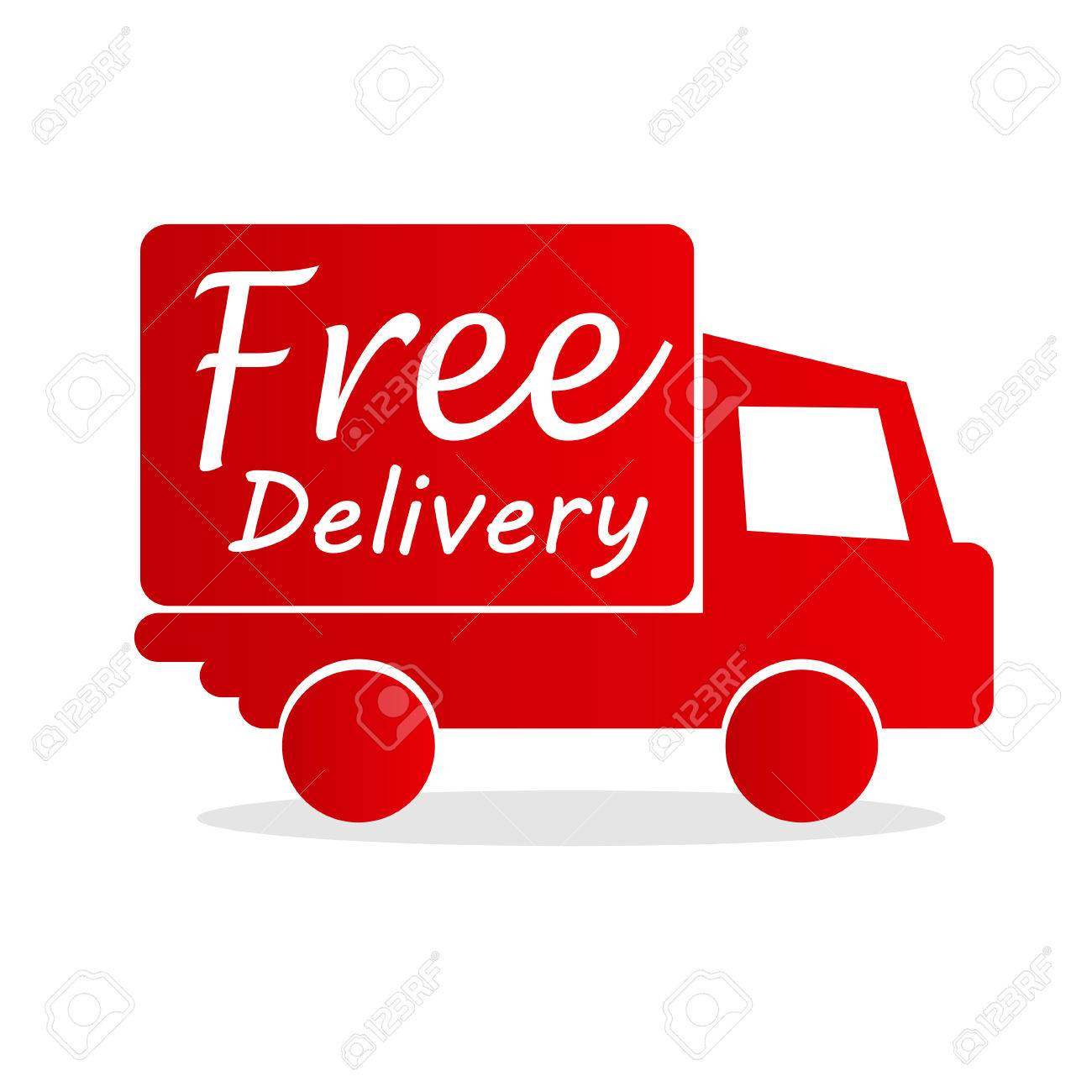 free delivery box with red arrow Stock Vector - 56940995 969a1d33be3