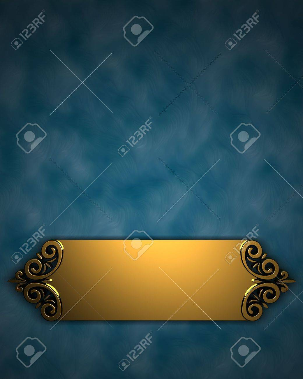 Blue Background with Golden Band Stock Photo - 12897044