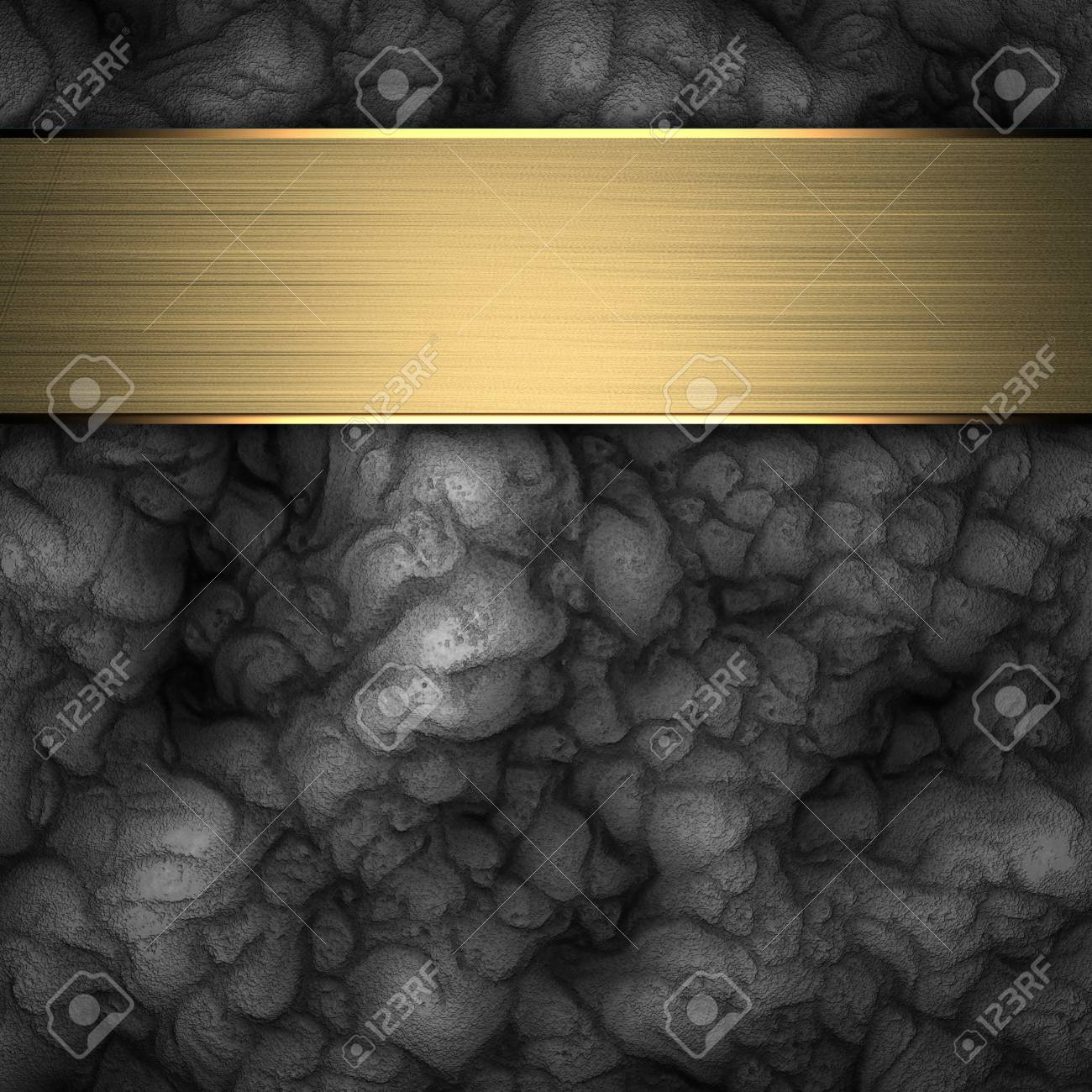 Black Background with gold plate Stock Photo - 14124791