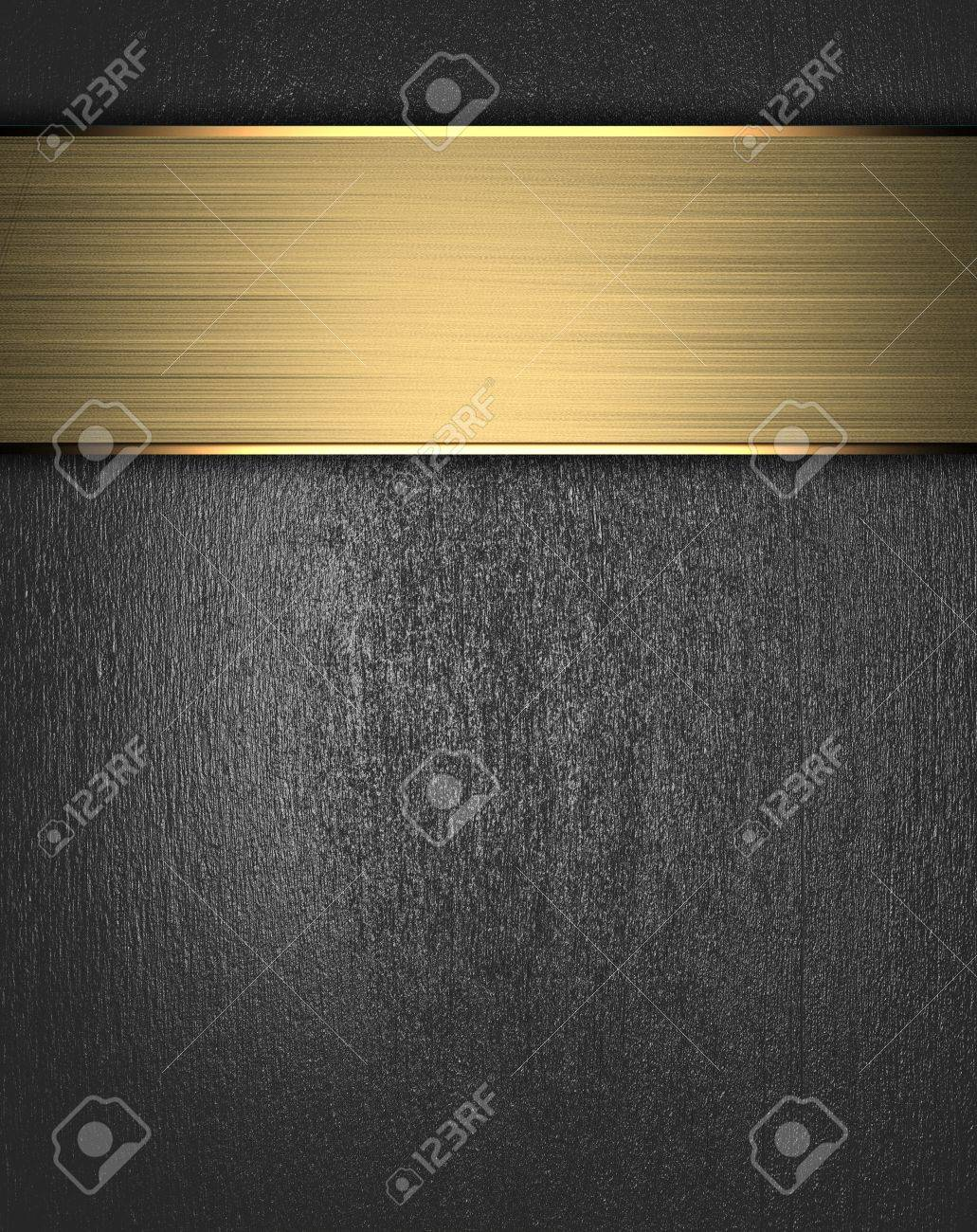 Metal Background with golden name plate Stock Photo - 15242040