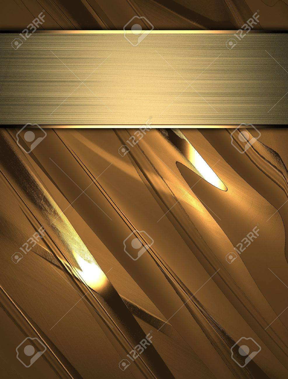 Gold Background with golden name plate Stock Photo - 15250466