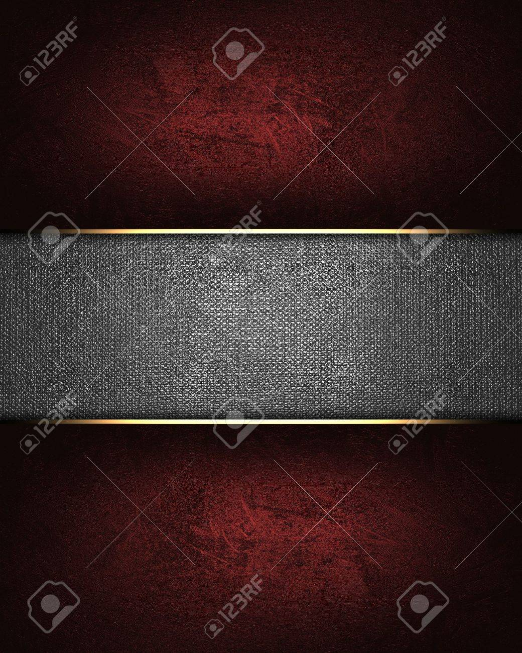The template for the inscription  Red background with a metal nameplate Stock Photo - 15716230