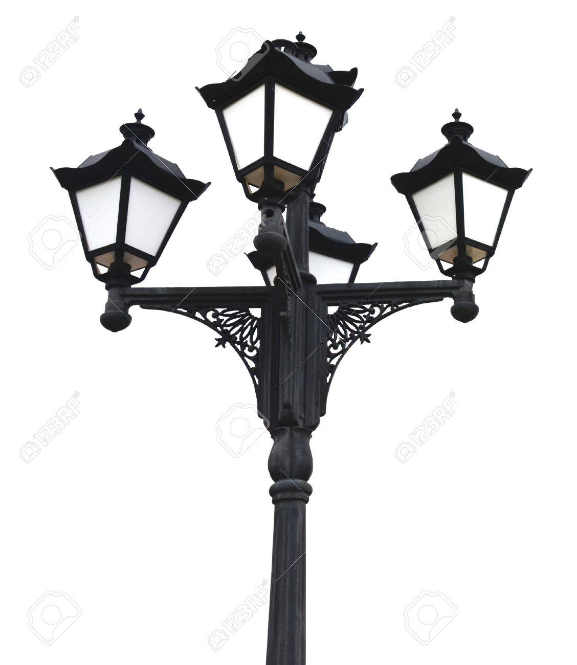 Quaternary Old-fashioned Street Lamp Post Stock Photo, Picture And ...