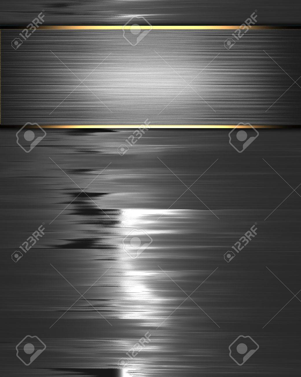 The template for the inscription  Beautiful metal background with a metal name plate for writing Stock Photo - 15852869
