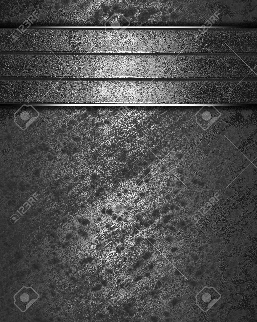 The template for the inscription  Metal Background with metal nameplate for writing Stock Photo - 16146455