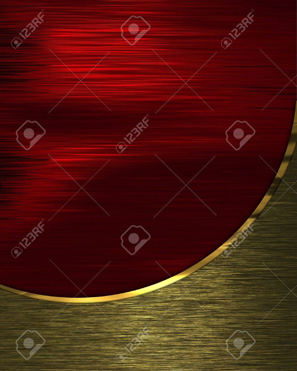 The template for the inscription  Beautiful red background divided a gold texture Stock Photo - 16146427