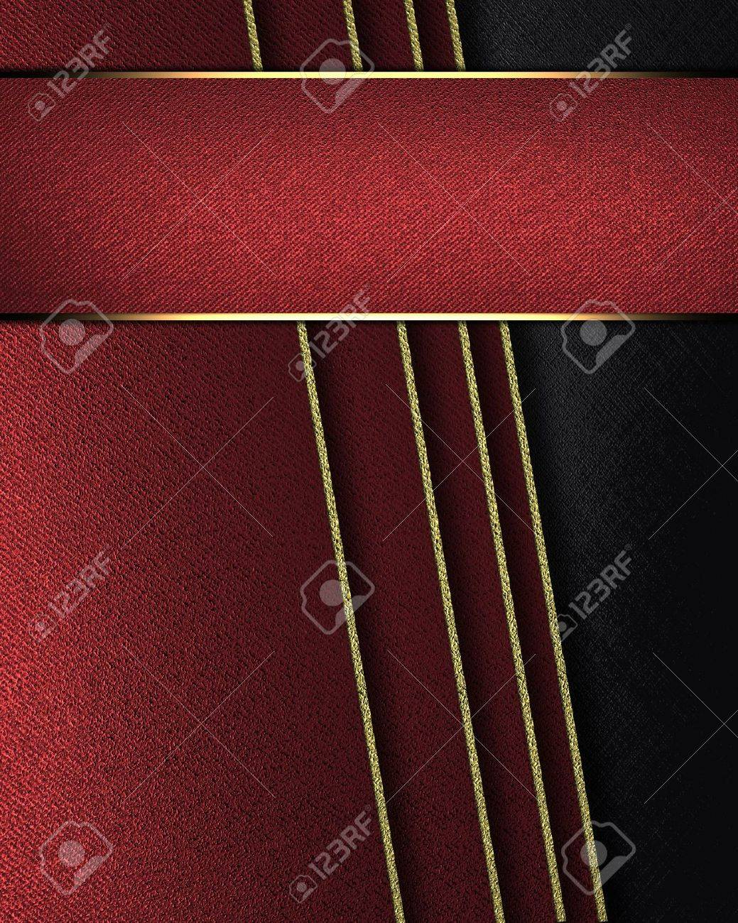 Design Template Black Background With Tilted Red Sheets Of Stock