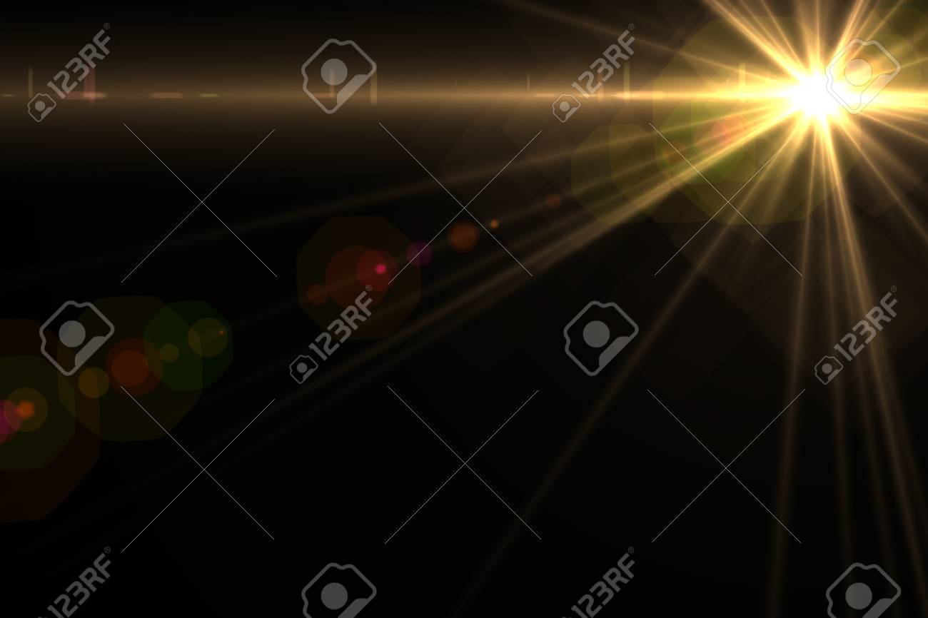 Design template - Star, sun with lens flare  Rays background Stock Photo - 16561681