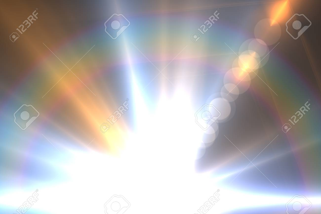 Design template - Star, sun with lens flare  Rays background Stock Photo - 16561687