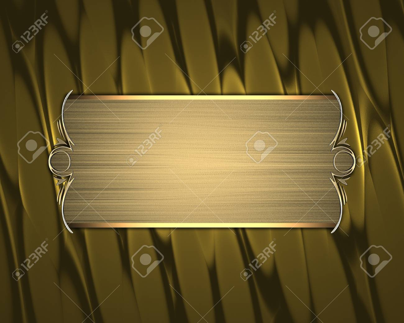 Abstract gold texture with beautiful gold nameplate and gold trim Stock Photo - 17937646