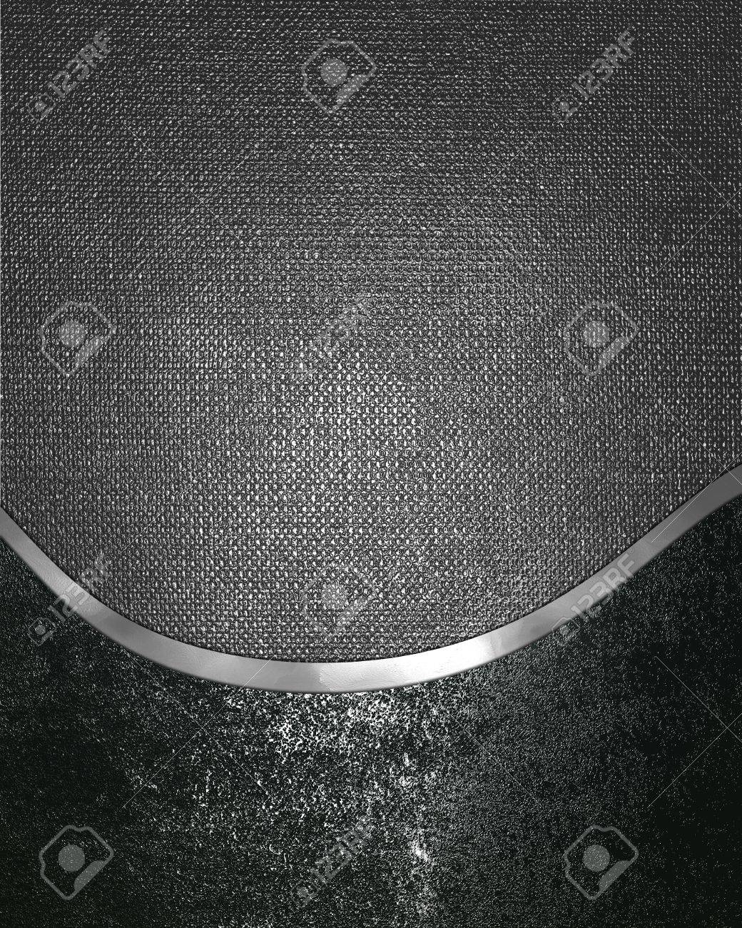 Template for design. grunge iron texture with silver ornament edge Stock Photo - 18247065