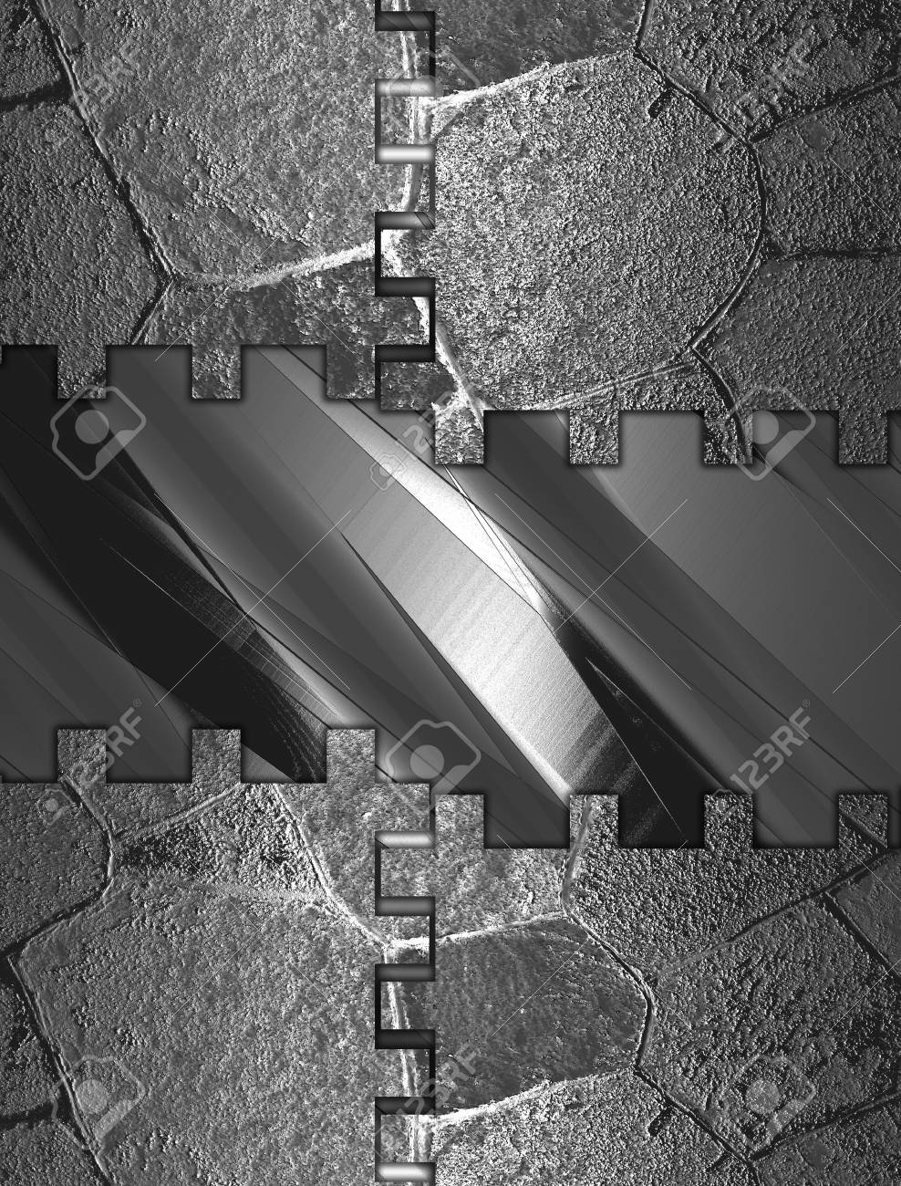 The template for the inscription. Abstract Iron background with abstract iron plate Stock Photo - 18373225
