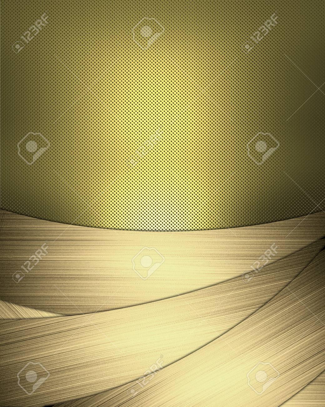 Diseño De La Plantilla - Resumen De Antecedentes De Oro Con Cintas ...