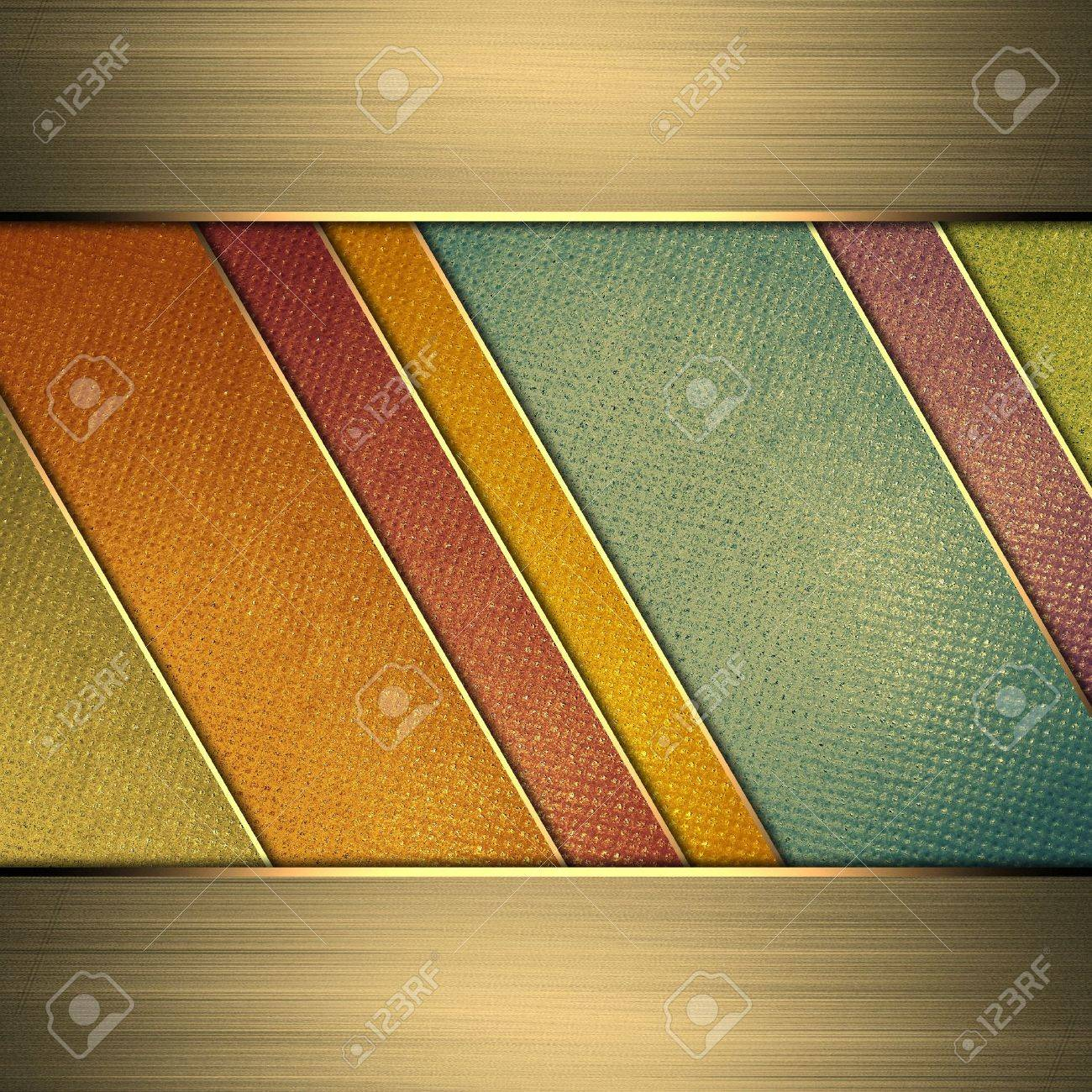 Template for design. Multi-colored background from stripes. A vintage poster. Design for website Stock Photo - 19456770