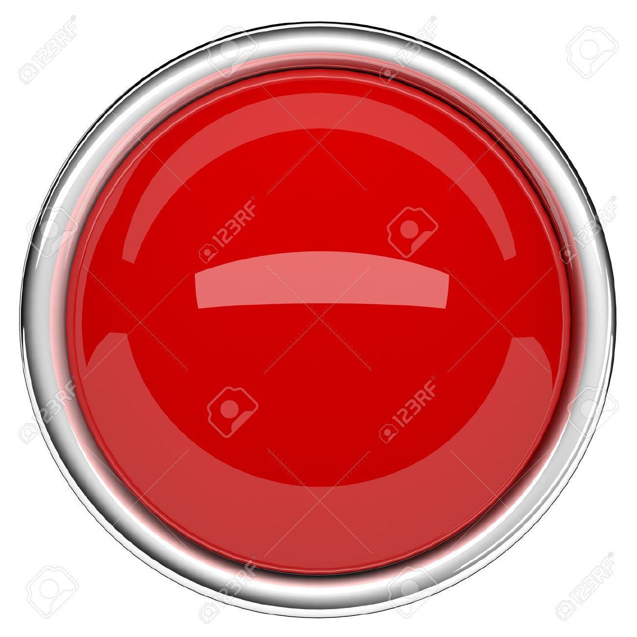 Red sphere and ring. Red button Stock Photo - 20119589