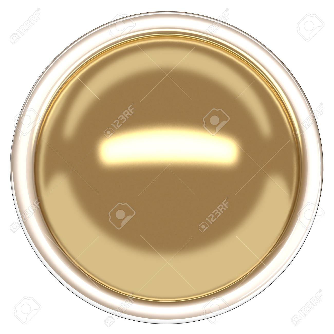 Gold sphere and ring. Gold button Stock Photo - 20119609