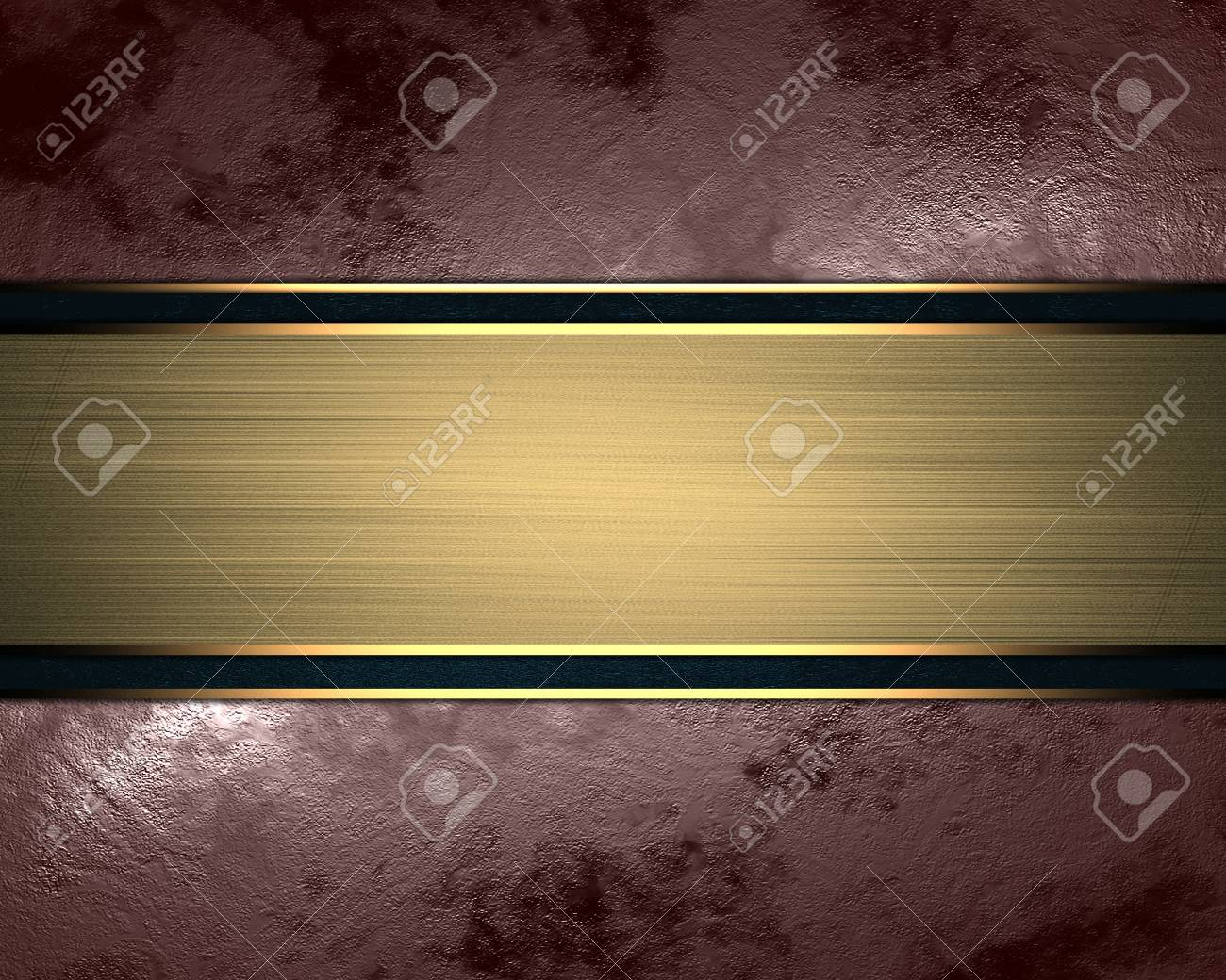 Abstract Brown Background With Gold Nameplate Design Template Stock - Name plate template