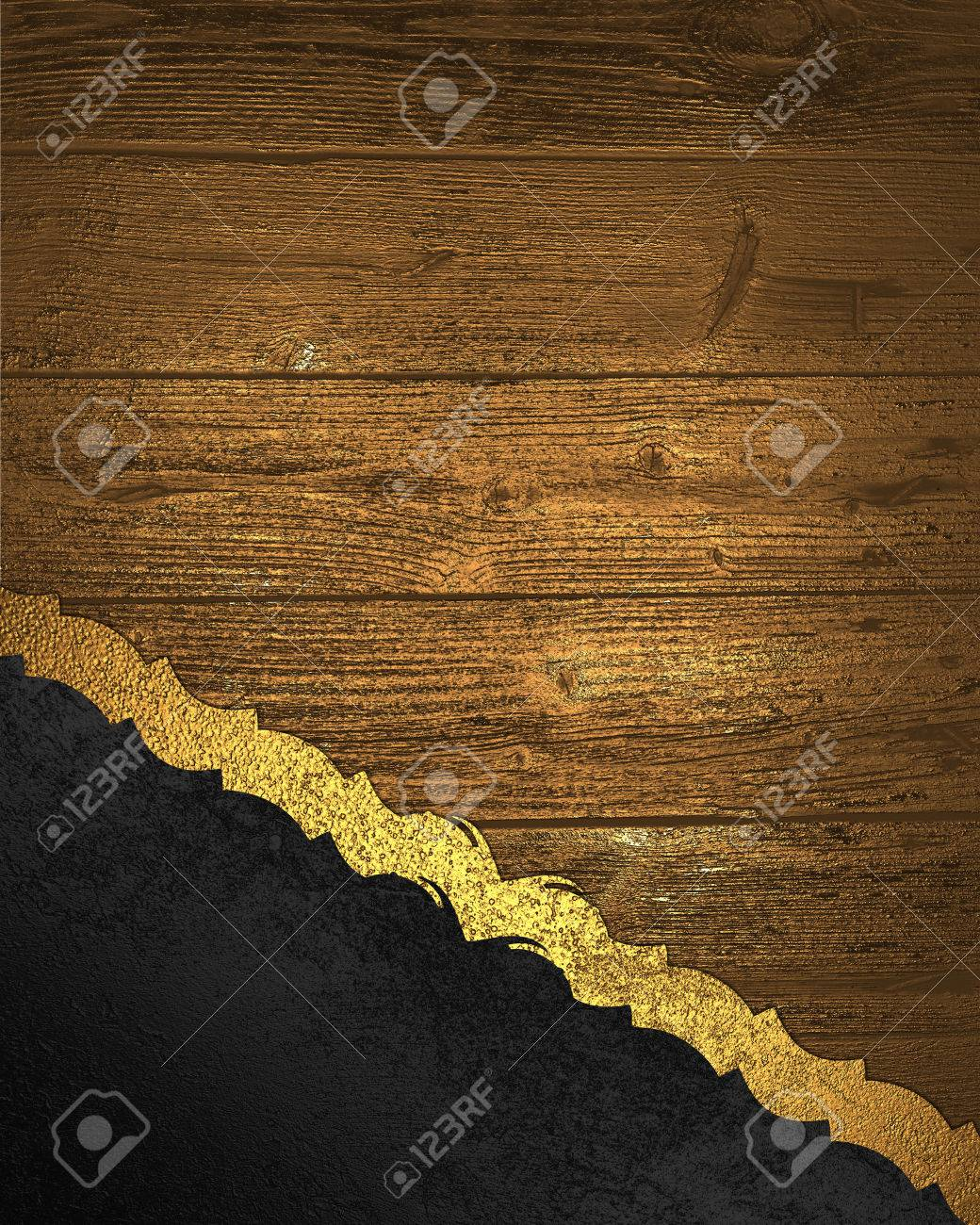 Element Design Of Black Texture With Gold Wooden Nameplate Design Stock Photo Picture And Royalty Free Image Image 36090667