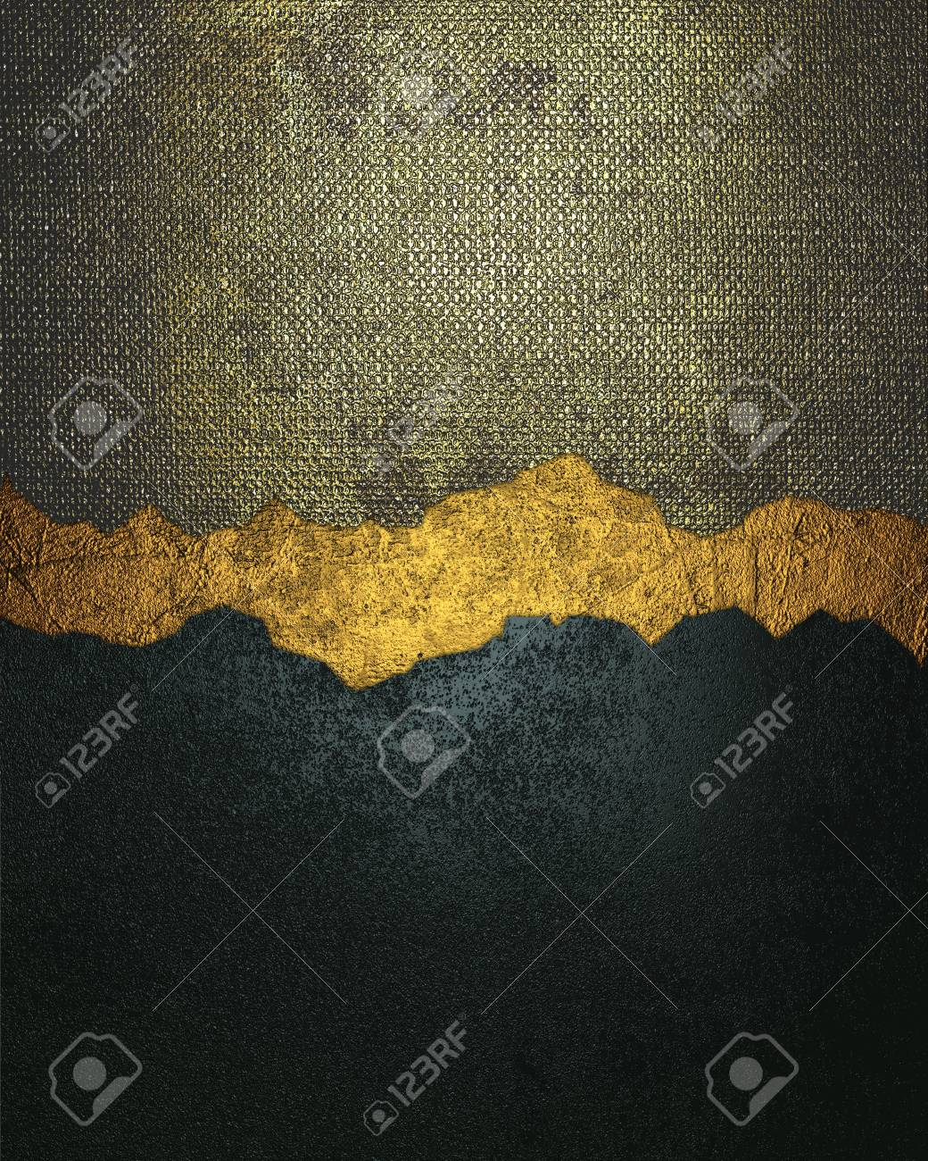 Grunge blue and gold metallic texture with crack  Element for