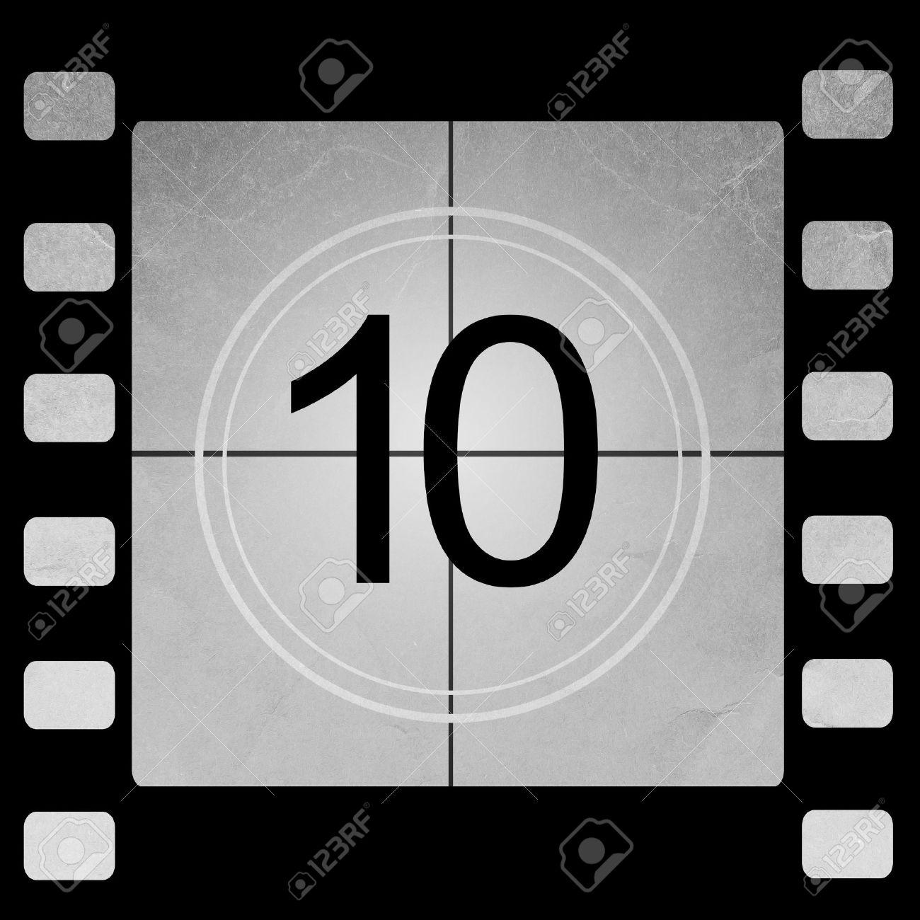 movie countdown B&W film 10 seconds - YouTube
