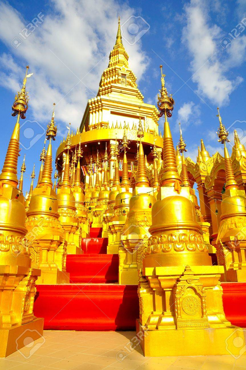 Top five hundred pagodas at beautiful in the Wat pasawangboon Saraburi, Thailand Stock Photo - 14571454